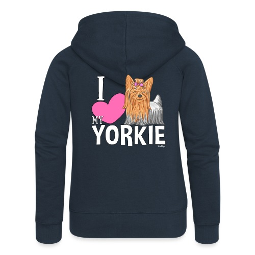 I love my Yorkie - Naisten Girlie svetaritakki premium