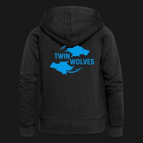 Twin Wolves Studio - Felpa con zip premium da donna