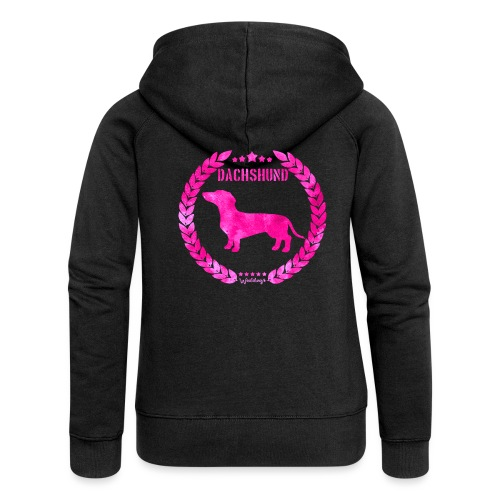 Dachshund SH Army Pink - Naisten Girlie svetaritakki premium