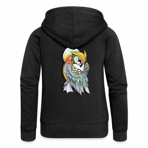 Cosmic owl - Chaqueta con capucha premium mujer