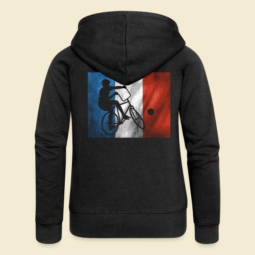 Radball | Flagge Frankreich - Frauen Premium Kapuzenjacke