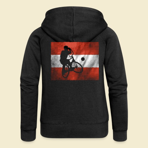 Radball | Flagge Österreich - Frauen Premium Kapuzenjacke