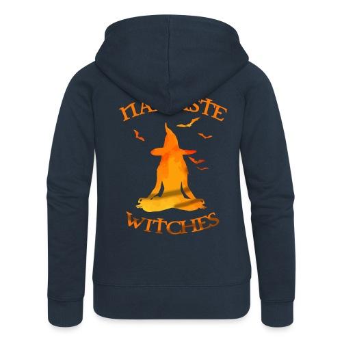 Namaste witches halloween shirt - Women's Premium Hooded Jacket