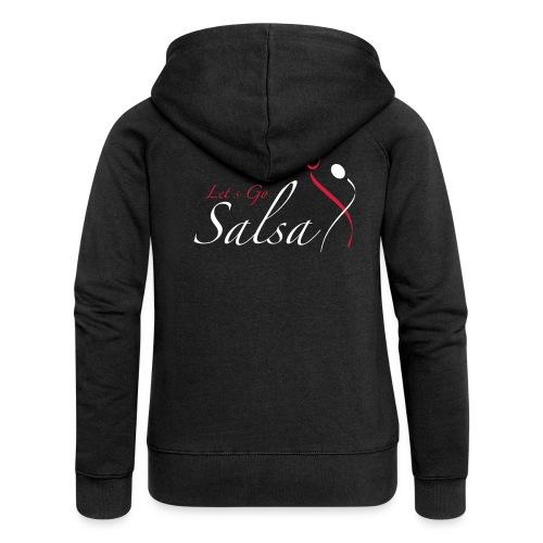 Lets_Go_Salsa_logo - Women's Premium Hooded Jacket