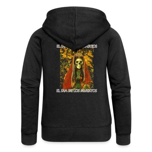 El Dia De Los Muertos Skeleton Design - Women's Premium Hooded Jacket