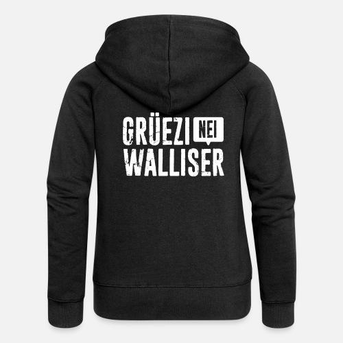 Grüezi – Nei, Walliser - Frauen Premium Kapuzenjacke