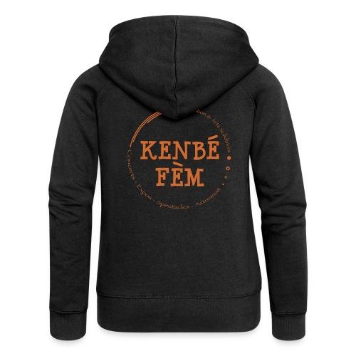 KenbeFem Back Orange png - Veste à capuche Premium Femme