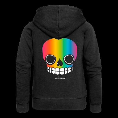 JUST SKULL rainbow - Naisten Girlie svetaritakki premium