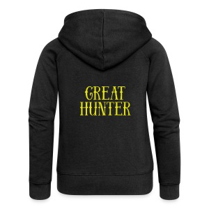 great hunter - Rozpinana bluza damska z kapturem Premium