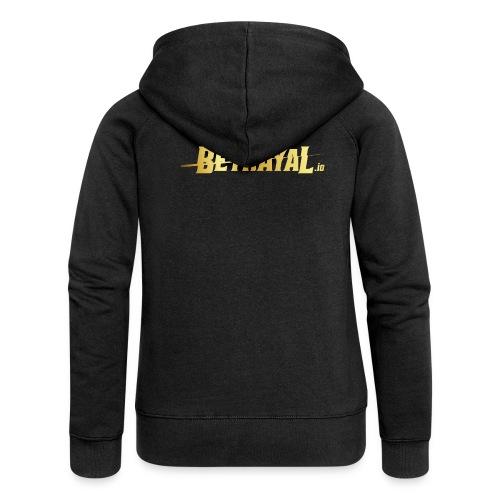00417 Betrayal dorado - Chaqueta con capucha premium mujer