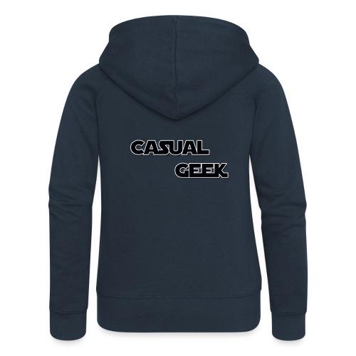 CasualGeek Standard Logo - Women's Premium Hooded Jacket