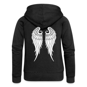 whitewings-ai - Women's Premium Hooded Jacket