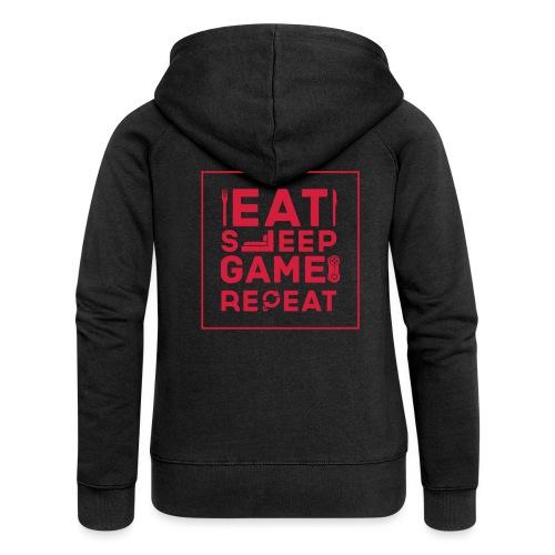 Eat, Sleep, Game, Repeat. - Women's Premium Hooded Jacket