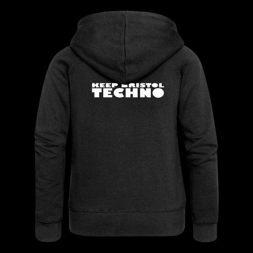KEEP BRISTOL TECHNO LOGO 1 - Women's Premium Hooded Jacket