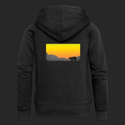 Sunrise Polar Bear - Women's Premium Hooded Jacket