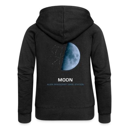 moon spacecraft design - Women's Premium Hooded Jacket