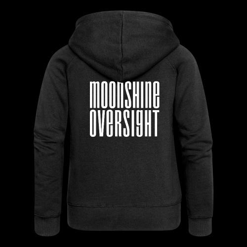 Moonshine Oversight blanc - Veste à capuche Premium Femme