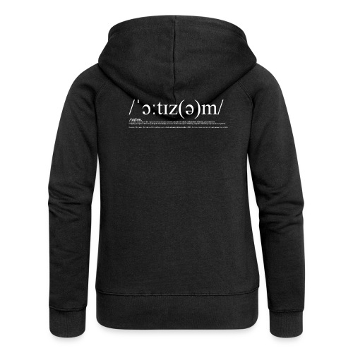 AUTISM WHITE - Women's Premium Hooded Jacket