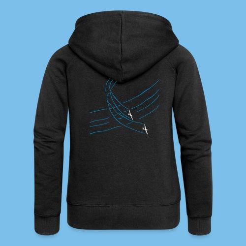 Segelflieger Wettbewerb Kunstflug T-shirt Geschenk - Frauen Premium Kapuzenjacke