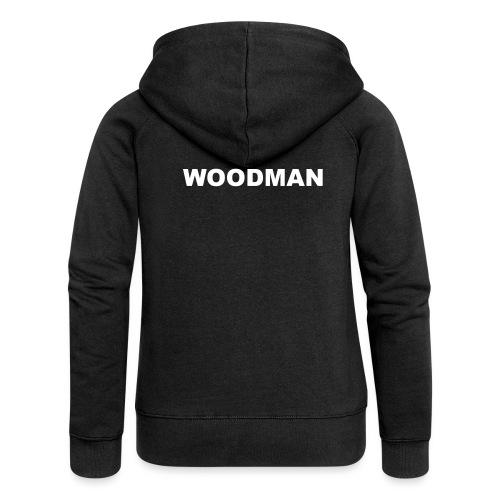 WOODMAN white - Frauen Premium Kapuzenjacke
