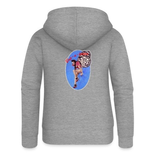 Vintage Rockabilly Butterfly Pin-up Design - Women's Premium Hooded Jacket