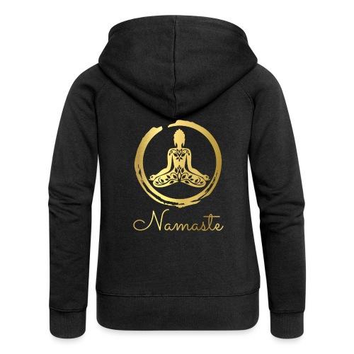 Yoga Buddha - Women's Premium Hooded Jacket