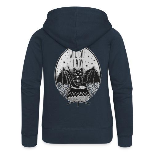 Wic-cat lady halloween shirt - Women's Premium Hooded Jacket