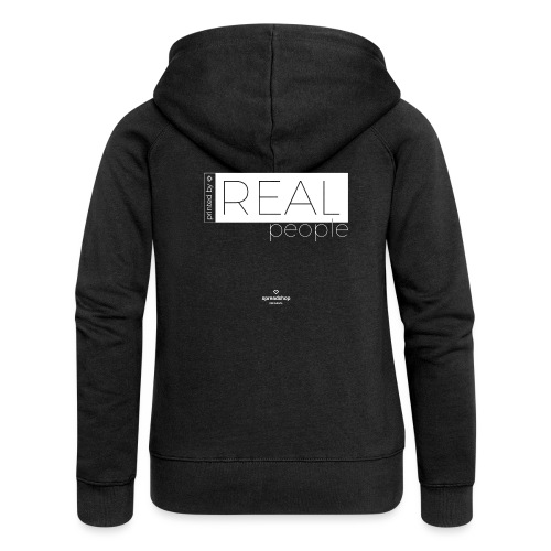 Real in white - Women's Premium Hooded Jacket
