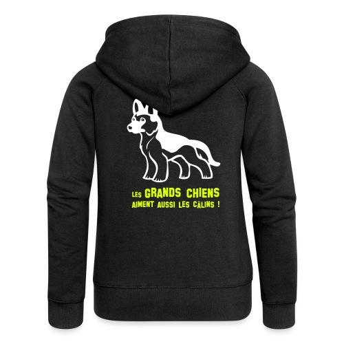 Grands chiens 2 - Veste à capuche Premium Femme