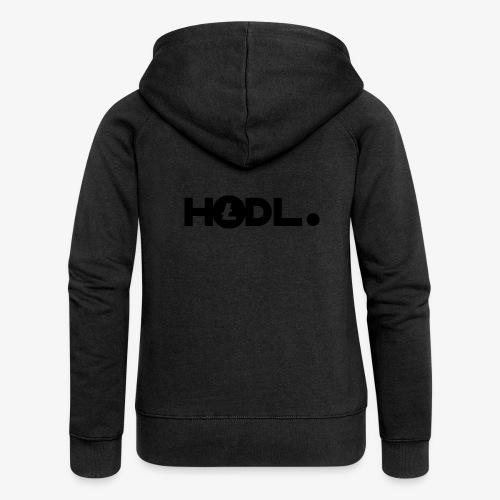 HODL-ltc-b - Women's Premium Hooded Jacket