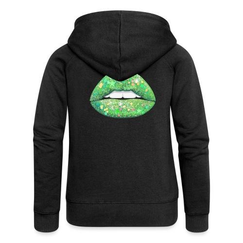 LIME SHIMMER - Women's Premium Hooded Jacket