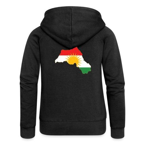 Kurdistan Flag Map - Frauen Premium Kapuzenjacke