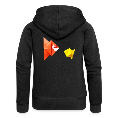 Origami Piranha and Fish - Fish - Pesce - Peixe - Women's Premium Hooded Jacket