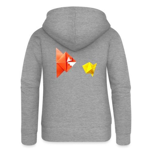 Origami Piranha and Fish - Fish - Pesce - Peixe - Women's Premium Hooded Jacket