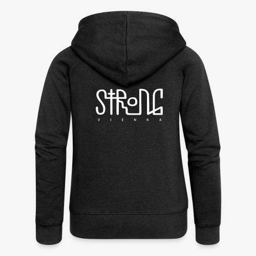 strong vienna logo white - Women's Premium Hooded Jacket