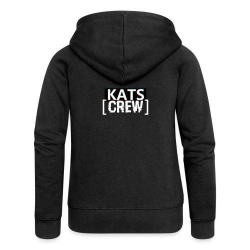KATS CREW Logo - Rozpinana bluza damska z kapturem Premium