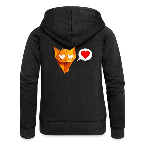 Adorable Cat Origami - Cat - Gato - Gatto - Katze - Women's Premium Hooded Jacket