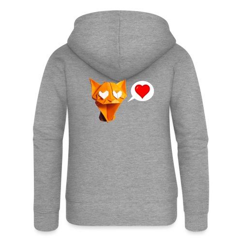 Adorable Cat Origami - Cat - Gato - Gatto - Katze - Women's Premium Hooded Jacket