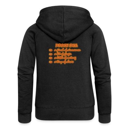 PumpkinSpiceRecipe - Felpa con zip premium da donna