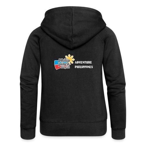 Philippinen-Blog Logo english schwarz/weiss - Frauen Premium Kapuzenjacke