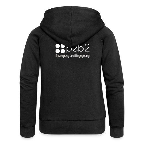 Logo peb2 weiss - Frauen Premium Kapuzenjacke