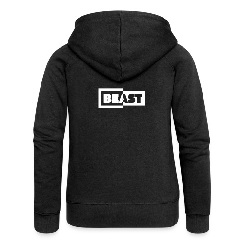 00383 Beast blanco negro - Chaqueta con capucha premium mujer