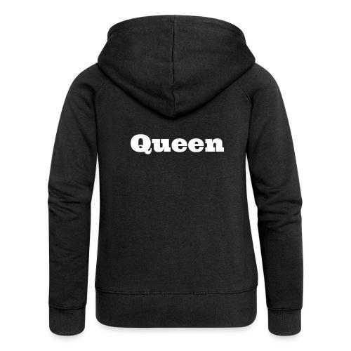 Snapback queen zwart/grijs - Vrouwenjack met capuchon Premium