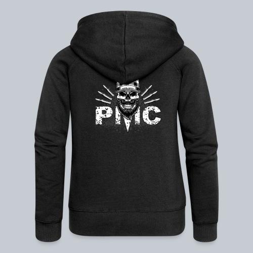 PMC Skull white - Frauen Premium Kapuzenjacke