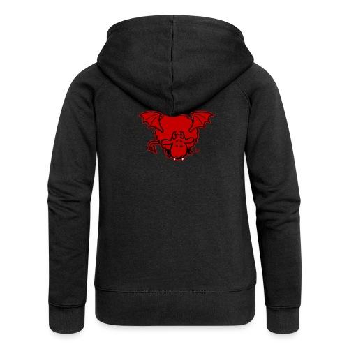 Devil Sheep - Felpa con zip premium da donna