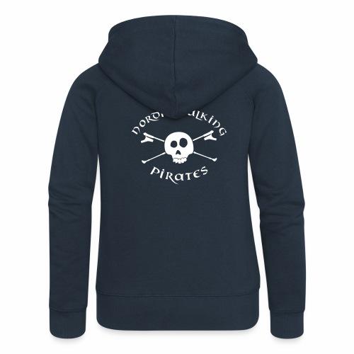 Nordic Walking Pirates (white) - Frauen Premium Kapuzenjacke