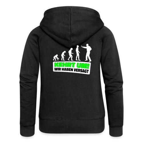 Evolution Klimaschutz Umweltschutz Demo Klimastrei - Frauen Premium Kapuzenjacke