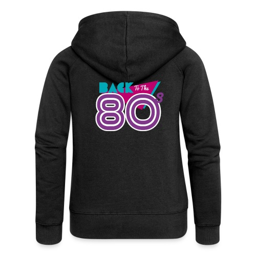 back to the 80 - Women's Premium Hooded Jacket