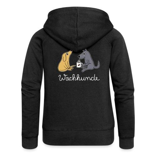 Wachhund trinkt Kaffee Koffein weckt müde Hunde - Frauen Premium Kapuzenjacke