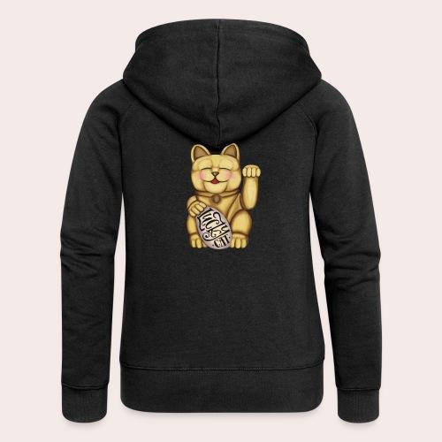 Lucky Cat - Frauen Premium Kapuzenjacke